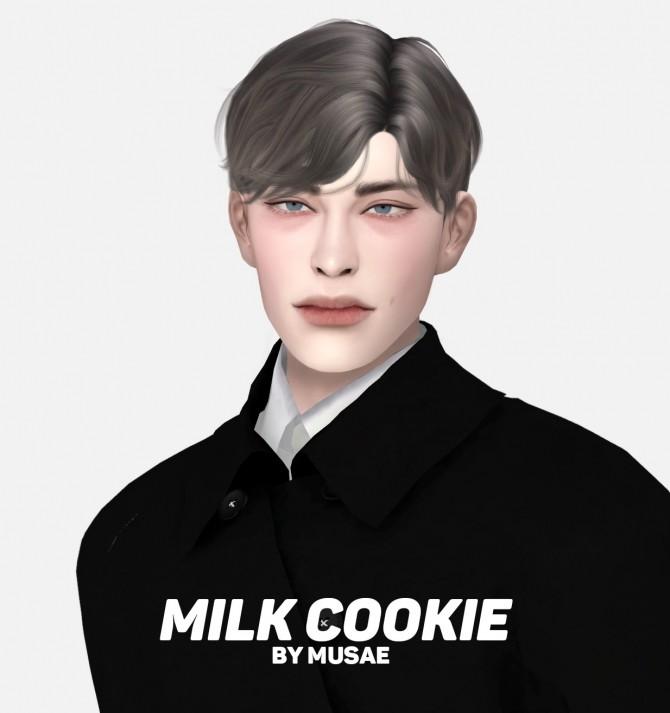 Sims 4 Milk Cookie Hair HQ by Musae at EFFIE