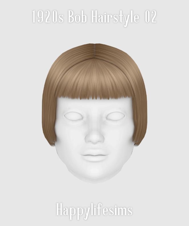 Sims 4 1920s Bob Hairstyle 02 at Happy Life Sims