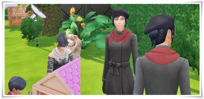 Sims 4 Two Side Scarf at Birksches Sims Blog