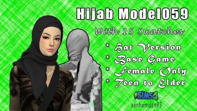 Sims 4 Hijab Model 059 & Imelda Longdress at Aan Hamdan Simmer93