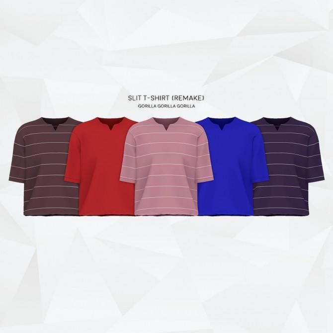 Sims 4 Slit T Shirt Remake at Gorilla
