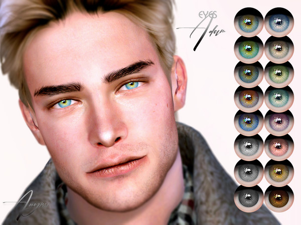 Sims 4 Adam eyes by ANGISSI at TSR