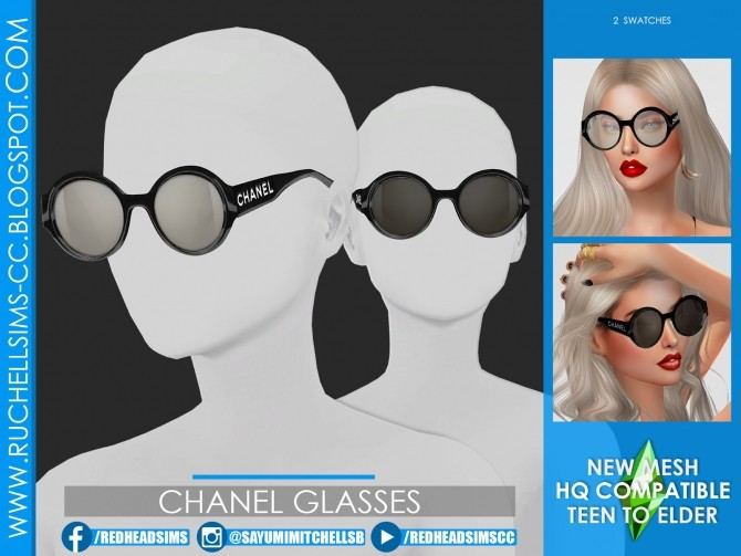 GLASSES by Sayumi Ruchell at Ruchell Sims image 1632 670x503 Sims 4 Updates