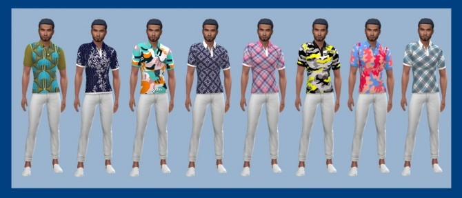 Sims 4 EP04 PATTERNED POLO (M) at Sims4Sue