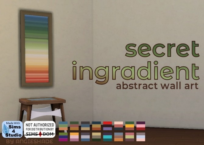 Secret ingredient abstract wall art at AngieShade – Intermittent simblr image 1645 670x479 Sims 4 Updates
