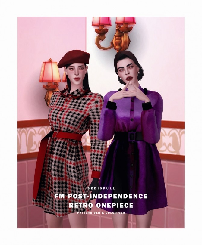 FM Post independence retro onepiece at Bedisfull – iridescent image 1652 670x814 Sims 4 Updates