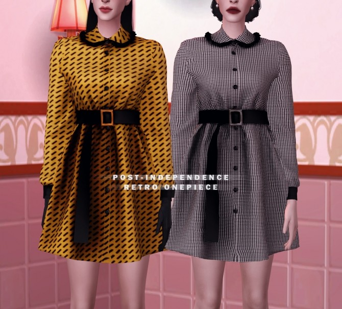 FM Post independence retro onepiece at Bedisfull – iridescent image 1662 670x605 Sims 4 Updates