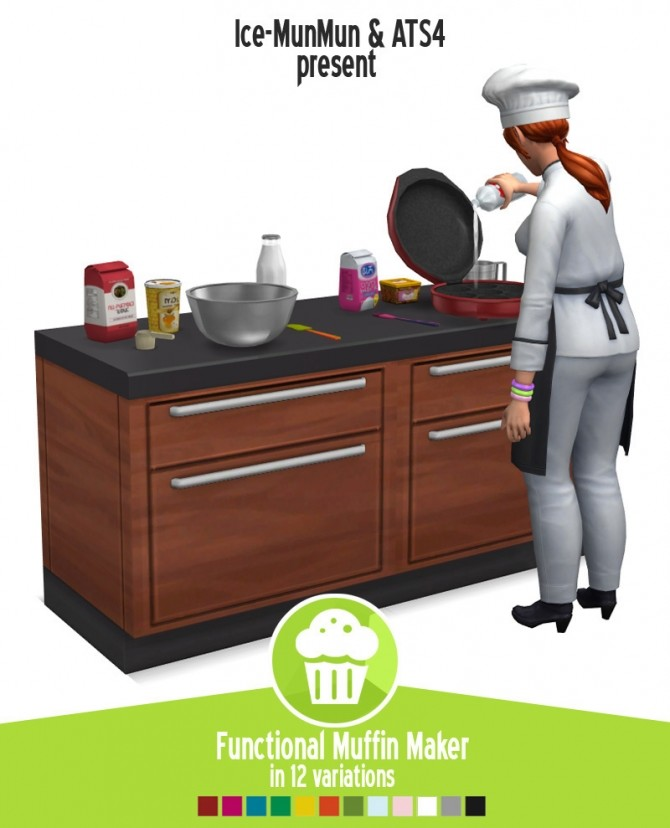 Functional Muffin maker updated by MunMun at Around the Sims 4 image 168 670x828 Sims 4 Updates