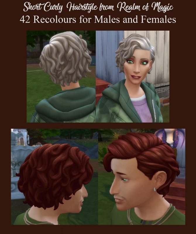 42 Recolours of Short Curly Hairstyle from ROM by Simmiller at Mod The Sims image 1696 670x800 Sims 4 Updates