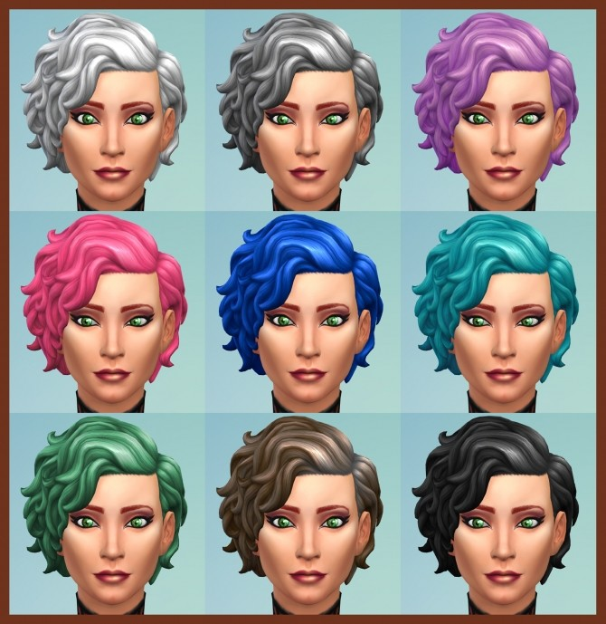 42 Recolours of Short Curly Hairstyle from ROM by Simmiller at Mod The Sims image 1707 670x689 Sims 4 Updates