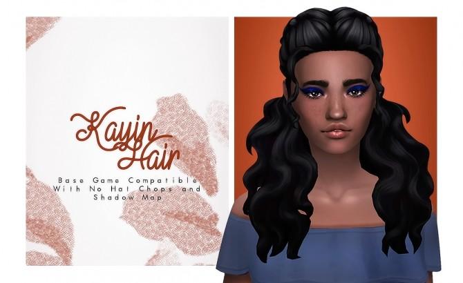 Sims 4 Kayin Hair at Isjao – working on uni