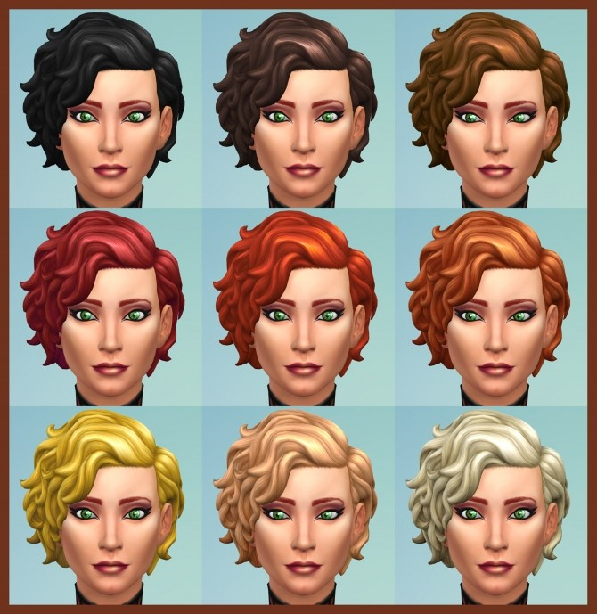 42 Recolours of Short Curly Hairstyle from ROM by Simmiller at Mod The Sims image 17115 670x689 Sims 4 Updates