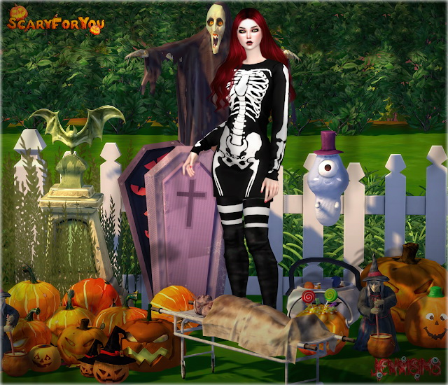 Decorative Halloween Scary For You 14 Items at Jenni Sims image 17210 Sims 4 Updates