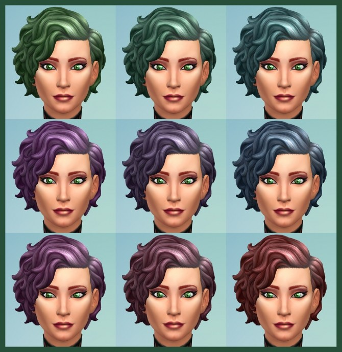 42 Recolours of Short Curly Hairstyle from ROM by Simmiller at Mod The Sims image 17213 670x689 Sims 4 Updates