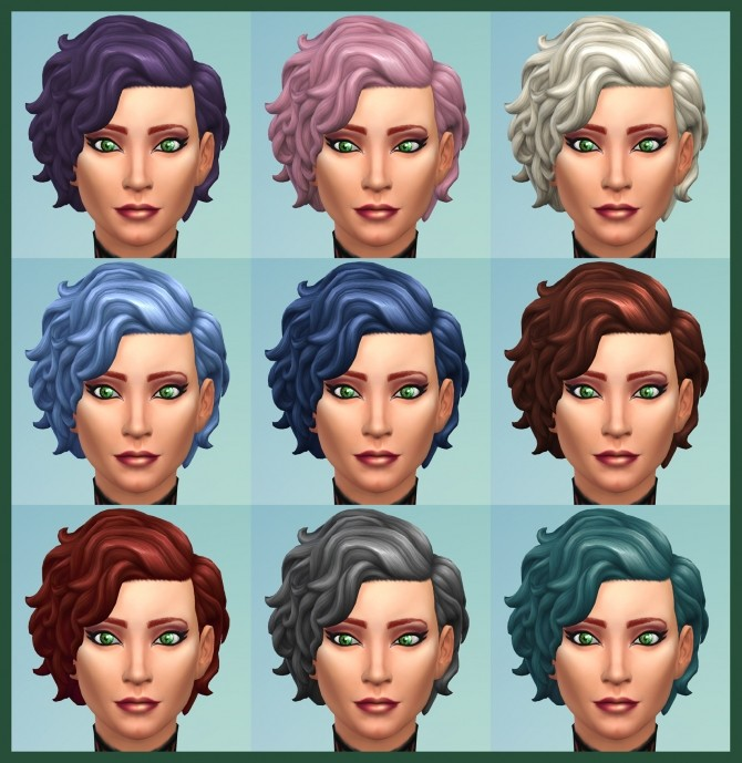 42 Recolours of Short Curly Hairstyle from ROM by Simmiller at Mod The Sims image 17310 670x689 Sims 4 Updates