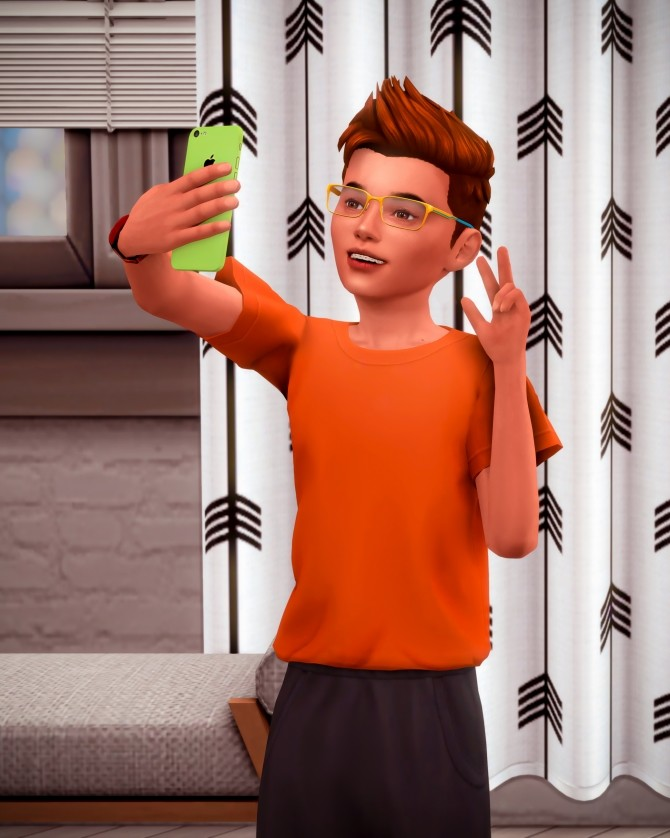 Kids with their Phone Poses at Katverse image 1771 670x838 Sims 4 Updates