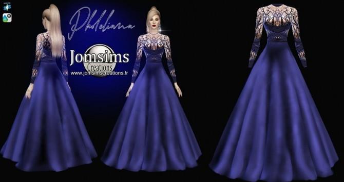 Sims 4 Pholeliana dress at Jomsims Creations