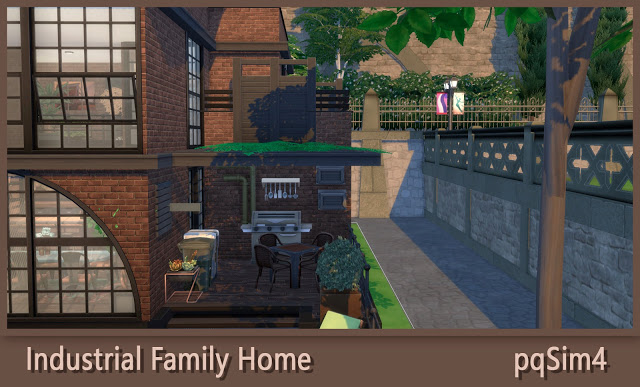 Sims 4 Industrial Family Home at pqSims4