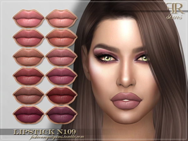 FRS Lipstick N109 by FashionRoyaltySims at TSR image 1810 Sims 4 Updates