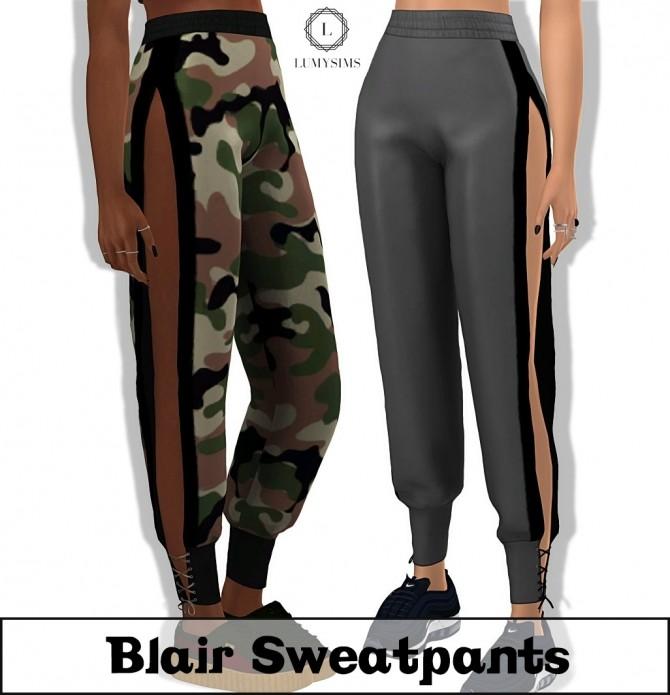 Sims 4 Blair Sweatpants at Lumy Sims