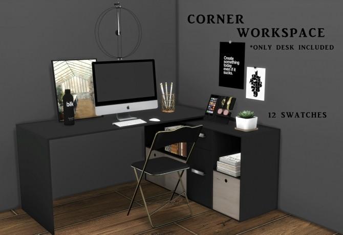 Sims 4 Corner Workspace (P) at Leo Sims