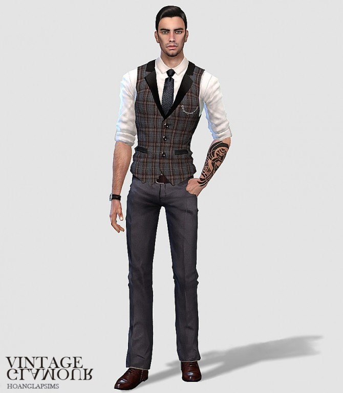 Vintage gentlemen set at HoangLap's Sims image 1862 670x768 Sims 4 Updates