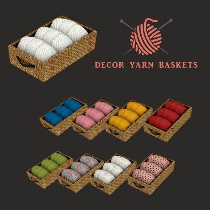 Sims 4 Yarn Baskets at Leo Sims