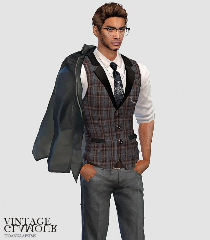 Vintage gentlemen set at HoangLap's Sims image 1881 670x768 Sims 4 Updates