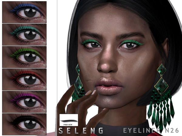 Sims 4 Eyeliner N26 by Seleng at TSR