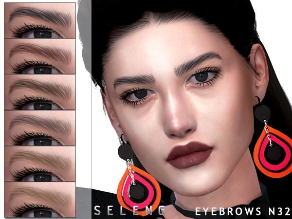 Sims 4 Eyebrows N32 by Seleng at TSR