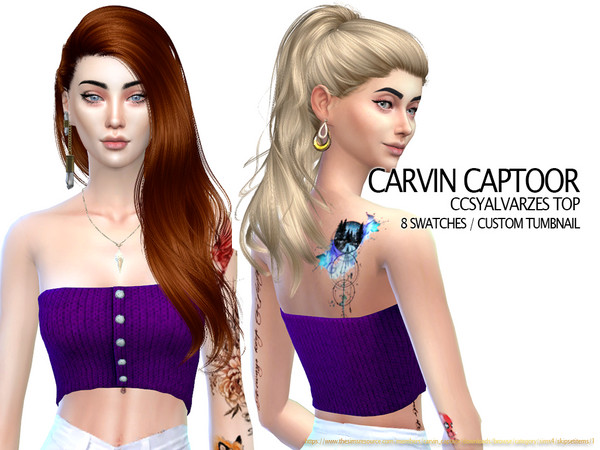 Sims 4 Syalvarzes Top by carvin captoor at TSR