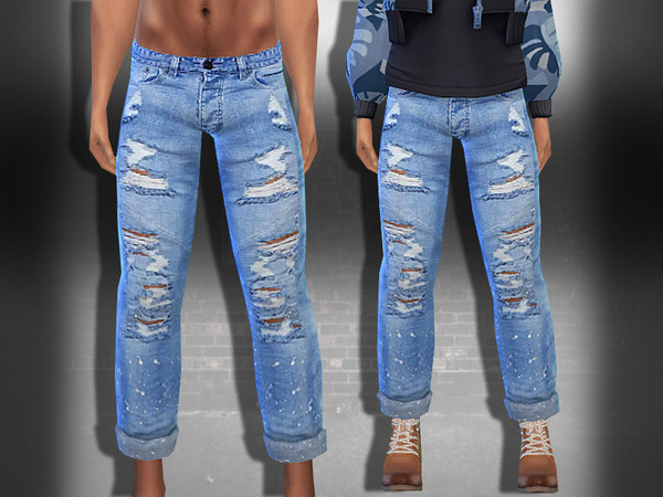 Ripped New Style Men Jeans by Saliwa at TSR image 1928 Sims 4 Updates