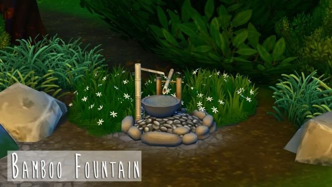 Sims 4 Zen Pool & Bamboo Fountain at Teanmoon