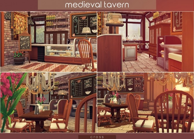 Sims 4 Medieval Tavern at Cross Design