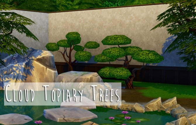 Cloud Topiary Trees at Teanmoon image 1947 670x428 Sims 4 Updates