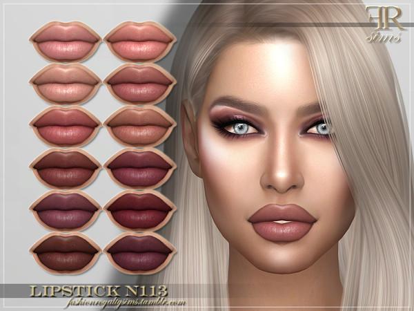 Sims 4 FRS Lipstick N113 by FashionRoyaltySims at TSR