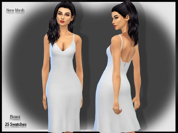 Sims 4 Elegant Slip Dress by pizazz at TSR