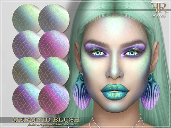 Sims 4 FRS Mermaid Blush by FashionRoyaltySims at TSR