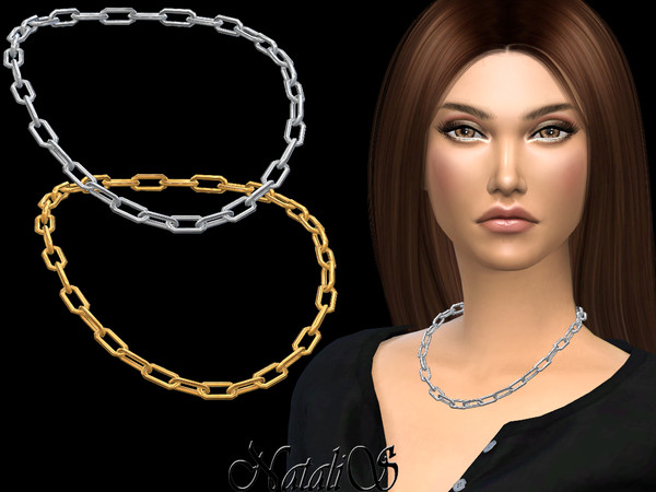 Sims 4 Simple chain collar by NataliS at TSR