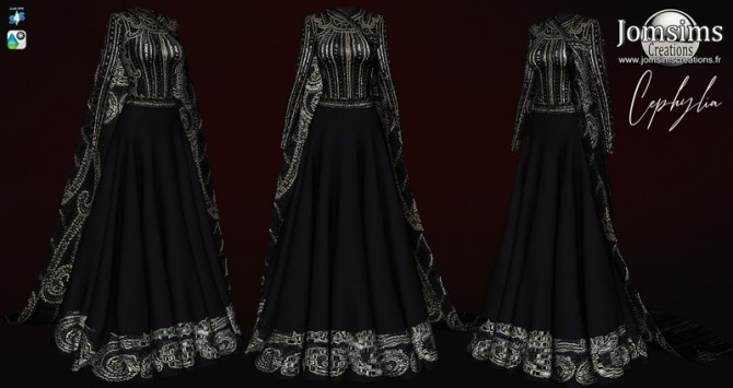 Cephyliase dress with cape at Jomsims Creations image 2032 670x355 Sims 4 Updates