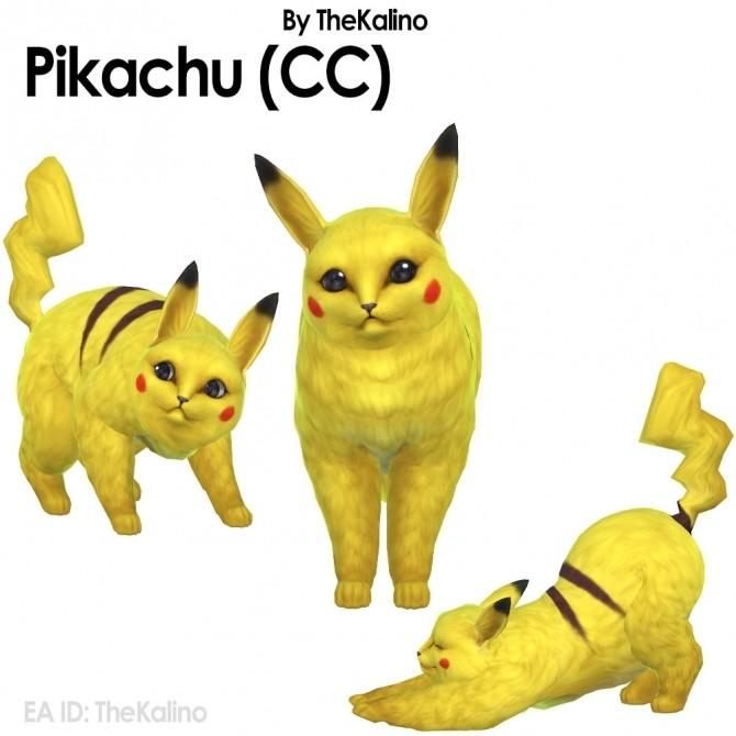 Sims 4 Pikachu with CC at Kalino