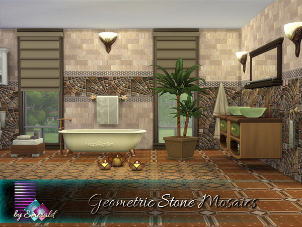 Geometric Stone Mosaics by emerald at TSR image 2106 Sims 4 Updates