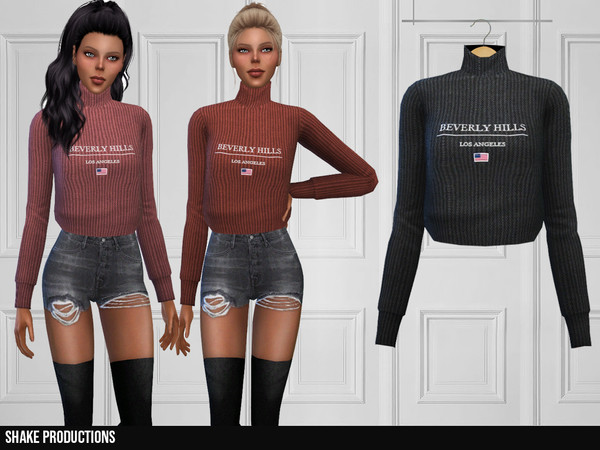 Sims 4 321 Sweater by ShakeProductions at TSR