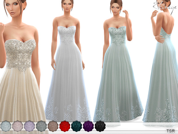 Wedding Gown by ekinege at TSR image 2117 Sims 4 Updates