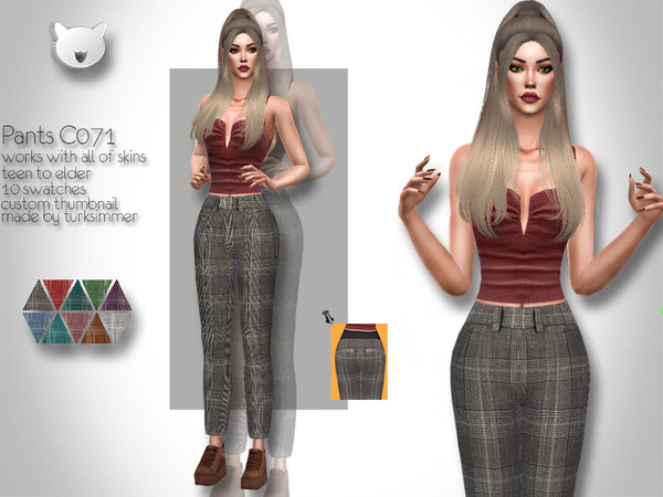 Sims 4 Pants C071 by turksimmer at TSR