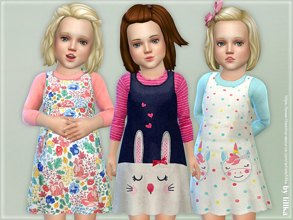 Toddler Dresses Collection P114 by lillka at TSR image 2220 Sims 4 Updates