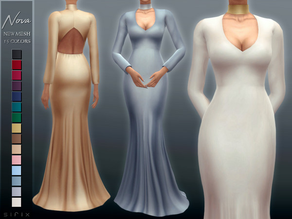 Sims 4 Nova Gown by Sifix at TSR