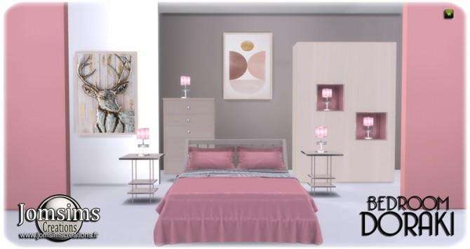 Doraki bedroom at Jomsims Creations image 226 670x355 Sims 4 Updates