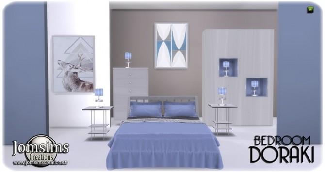 Sims 4 Doraki bedroom at Jomsims Creations