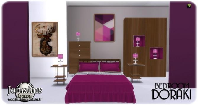 Doraki bedroom at Jomsims Creations image 228 670x355 Sims 4 Updates